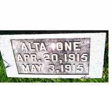 CORNELIUS, ALTA IONE - Adams County, Ohio | ALTA IONE CORNELIUS - Ohio Gravestone Photos