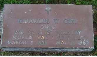 COX, CHARLES W. - Adams County, Ohio   CHARLES W. COX - Ohio Gravestone Photos