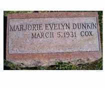DUNKIN COX, MARJORIE EVELYN - Adams County, Ohio | MARJORIE EVELYN DUNKIN COX - Ohio Gravestone Photos