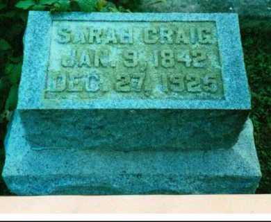 CRAIG, ANNA SARAH - Adams County, Ohio   ANNA SARAH CRAIG - Ohio Gravestone Photos