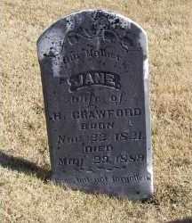 CRAWFORD, JANE - Adams County, Ohio | JANE CRAWFORD - Ohio Gravestone Photos