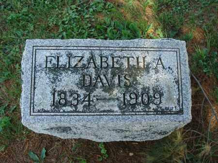 DAVIS, ELIZABETH A - Adams County, Ohio | ELIZABETH A DAVIS - Ohio Gravestone Photos