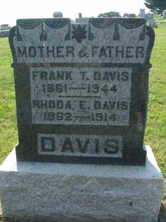 DAVIS, FRANK T - Adams County, Ohio   FRANK T DAVIS - Ohio Gravestone Photos