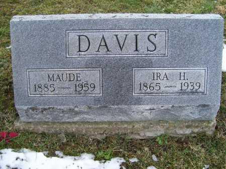 DAVIS, IRA H. - Adams County, Ohio | IRA H. DAVIS - Ohio Gravestone Photos