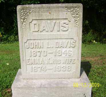 DAVIS, JOHN L - Adams County, Ohio | JOHN L DAVIS - Ohio Gravestone Photos