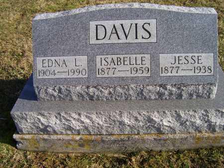 DAVIS, EDNA L. - Adams County, Ohio   EDNA L. DAVIS - Ohio Gravestone Photos