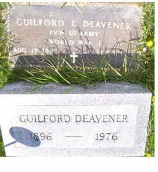 DEAVENER, GUILFORD L. - Adams County, Ohio   GUILFORD L. DEAVENER - Ohio Gravestone Photos