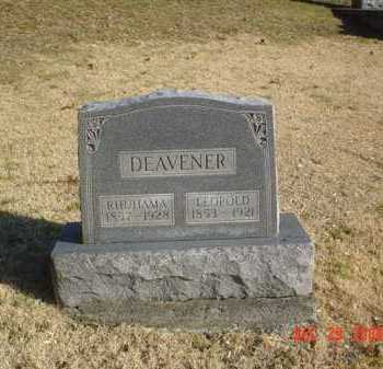 DEAVENER, RHUHAMA - Adams County, Ohio | RHUHAMA DEAVENER - Ohio Gravestone Photos