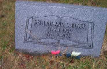 DEBLOSE, BEULAH ANN - Adams County, Ohio | BEULAH ANN DEBLOSE - Ohio Gravestone Photos