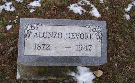 DEVORE, ALONZO - Adams County, Ohio | ALONZO DEVORE - Ohio Gravestone Photos