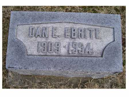 EBRITE, DAN E. - Adams County, Ohio | DAN E. EBRITE - Ohio Gravestone Photos