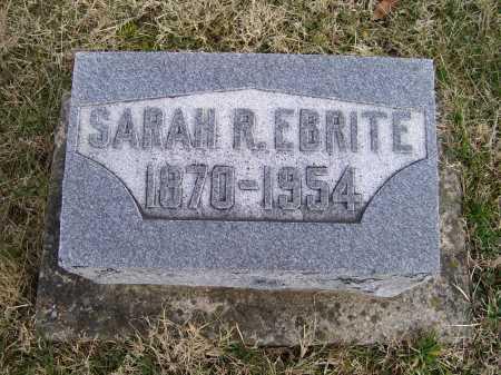 EBRITE, SARAH R. - Adams County, Ohio | SARAH R. EBRITE - Ohio Gravestone Photos
