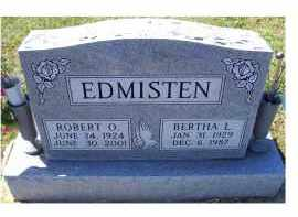 EDMISTEN, ROBERT O. - Adams County, Ohio | ROBERT O. EDMISTEN - Ohio Gravestone Photos