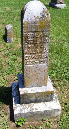 STEELMAN EDWARDS, ESTHER M. - Adams County, Ohio | ESTHER M. STEELMAN EDWARDS - Ohio Gravestone Photos