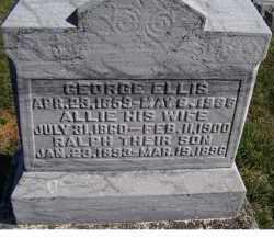 ELLIS, GEORGE - Adams County, Ohio | GEORGE ELLIS - Ohio Gravestone Photos