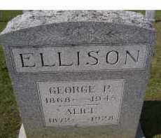 ELLISON, GEORGE P. - Adams County, Ohio   GEORGE P. ELLISON - Ohio Gravestone Photos