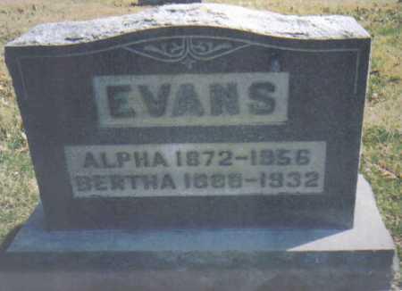 EVANS, ALPHA - Adams County, Ohio | ALPHA EVANS - Ohio Gravestone Photos