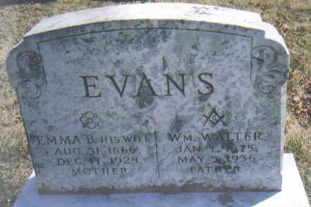 EVANS, WM. WALTER - Adams County, Ohio | WM. WALTER EVANS - Ohio Gravestone Photos