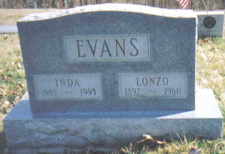 EVANS, INDA - Adams County, Ohio | INDA EVANS - Ohio Gravestone Photos