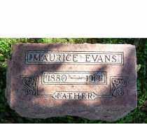 EVANS, MAURICE - Adams County, Ohio   MAURICE EVANS - Ohio Gravestone Photos