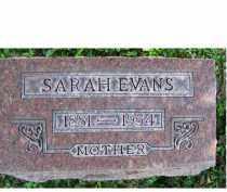 EVANS, SARAH - Adams County, Ohio | SARAH EVANS - Ohio Gravestone Photos