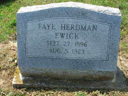 EWICK, FAYE - Adams County, Ohio | FAYE EWICK - Ohio Gravestone Photos