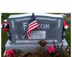 FENTON, MAX C. - Adams County, Ohio | MAX C. FENTON - Ohio Gravestone Photos
