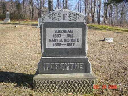 FORSYTHE, ABRAHAM - Adams County, Ohio   ABRAHAM FORSYTHE - Ohio Gravestone Photos