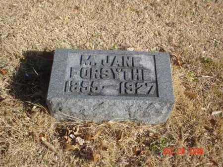 FORSYTHE, M. JANE - Adams County, Ohio | M. JANE FORSYTHE - Ohio Gravestone Photos