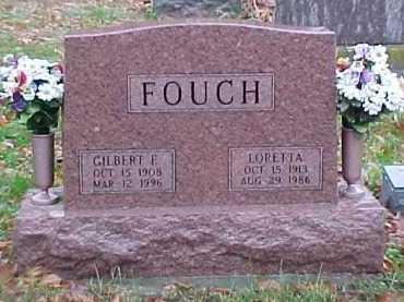 FOUCH, GILBERT E. - Adams County, Ohio | GILBERT E. FOUCH - Ohio Gravestone Photos