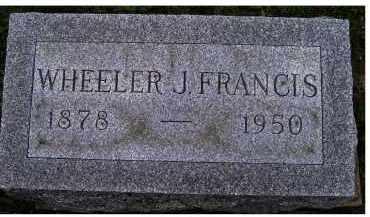 FRANCIS, WHEELER J. - Adams County, Ohio   WHEELER J. FRANCIS - Ohio Gravestone Photos