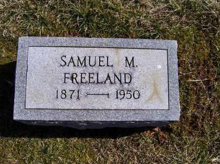 FREELAND, SAMUEL M. - Adams County, Ohio | SAMUEL M. FREELAND - Ohio Gravestone Photos