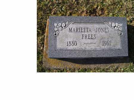 JONES FREES, MARIETTA - Adams County, Ohio | MARIETTA JONES FREES - Ohio Gravestone Photos