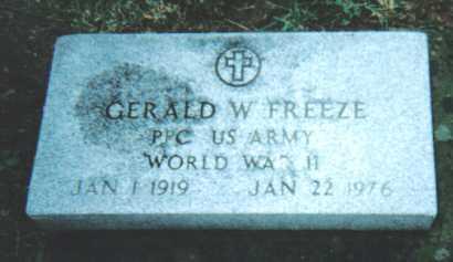 FREEZE, GERALD W. - Adams County, Ohio | GERALD W. FREEZE - Ohio Gravestone Photos