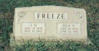 FREEZE, ELLA O. - Adams County, Ohio | ELLA O. FREEZE - Ohio Gravestone Photos