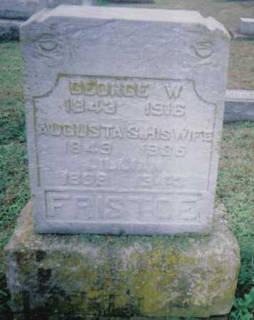 FRISTOE, GEORGE W. - Adams County, Ohio | GEORGE W. FRISTOE - Ohio Gravestone Photos