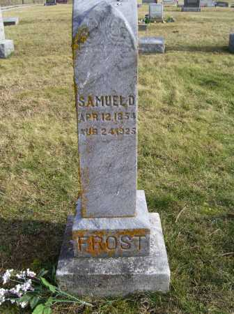 FROST, SAMUEL D. - Adams County, Ohio | SAMUEL D. FROST - Ohio Gravestone Photos