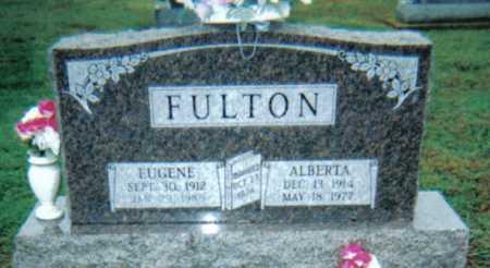 FULTON, ALBERTA - Adams County, Ohio   ALBERTA FULTON - Ohio Gravestone Photos