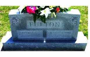 FULTON, THOMAS A. - Adams County, Ohio   THOMAS A. FULTON - Ohio Gravestone Photos