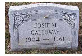 GALLOWAY, JOSIE M. - Adams County, Ohio | JOSIE M. GALLOWAY - Ohio Gravestone Photos