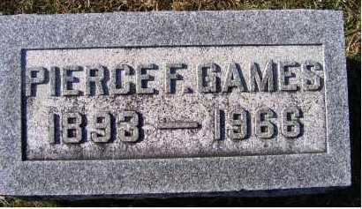 GAMES, PIERCE F. - Adams County, Ohio   PIERCE F. GAMES - Ohio Gravestone Photos