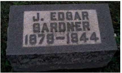 GARDNER, J. EDGAR - Adams County, Ohio   J. EDGAR GARDNER - Ohio Gravestone Photos