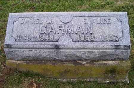 GARMAN, E. ALICE - Adams County, Ohio | E. ALICE GARMAN - Ohio Gravestone Photos