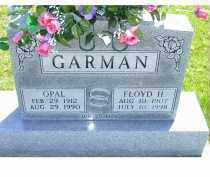 GARMAN, OPAL - Adams County, Ohio | OPAL GARMAN - Ohio Gravestone Photos