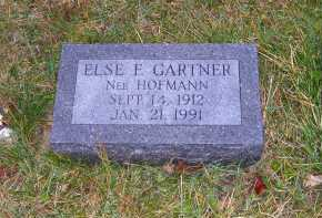 HOFMANN GARTNER, ELSIE F. - Adams County, Ohio | ELSIE F. HOFMANN GARTNER - Ohio Gravestone Photos
