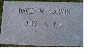 GARVIN, DAVID W. - Adams County, Ohio | DAVID W. GARVIN - Ohio Gravestone Photos