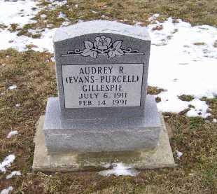 EVANS - PURCELL GILLESPIE, AUDREY R. - Adams County, Ohio   AUDREY R. EVANS - PURCELL GILLESPIE - Ohio Gravestone Photos