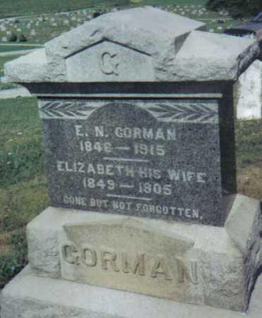 GORMAN, ELIZABETH - Adams County, Ohio   ELIZABETH GORMAN - Ohio Gravestone Photos