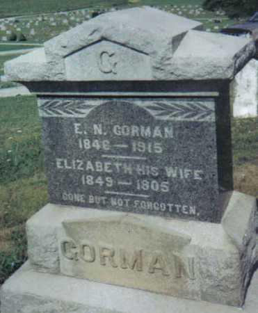 GORMAN, E. N. - Adams County, Ohio | E. N. GORMAN - Ohio Gravestone Photos