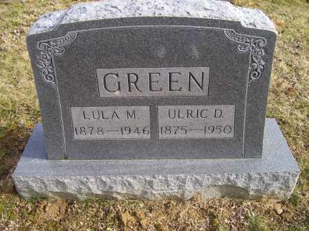 GREEN, ULRIC D. - Adams County, Ohio | ULRIC D. GREEN - Ohio Gravestone Photos